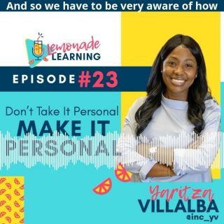 Has the week got you down? 😞  Need a little pick-me-up? ✨  It's FRI-YAY, y'all & we've got just the thing to 🍋BRIGHTEN🍋 your day!  Grab your 🎧 & download E23: Don't Take It Personal, Make it Personal with our pal, @inc_yv  Here's a little sip, but trust us, you'll want the whole glass (download & subscribe at lemonadelearning.us)  Yaritza's honest & authentic perspective is sure to 🍋sweeten 🍋your resolve, 💪🏾strengthen 💪🏾your practice,& ✨inspire ✨your heart.  ➕What element was lifted for you in this episode?  Was it a 🍋sweetened resolve? Or 💪🏾strengthened practice? Or an ✨inspired heart?  Drop which emoji (🍋💪🏾✨) matches your experience in the comments 🔽 + TAG a friend who needs to hear this too.  As a thank you, BOTH you AND your friend will get some 🍋SWEET🍋@LemonadeLearning swag.