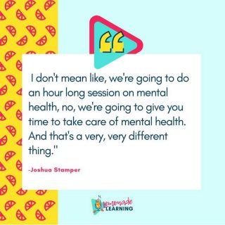 In honor of #mentalhealthday we are throwing it back to our conversation with @joshua__stamper . In this episode we talked mental health and education! Give it a listen and share it with a friend. You can find it anywhere you listen to podcasts. Season 2, episode 39   #mentalhealthmatters #eduleaders #podcastersofinstagram #edupodcast